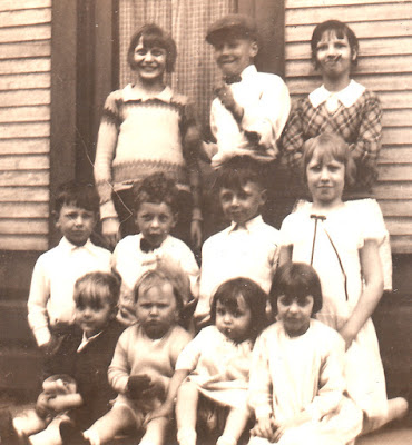 Bickerstaff Cousins in Mineral Ridge, Ohio, about 1929