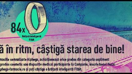 CONCURS www.alphega-farmacie.ro. CASTIGA o brațară inteligentă Fitbit.