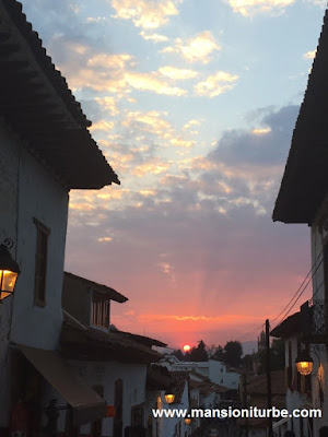 Sunset in Patzcuaro, Michoacan