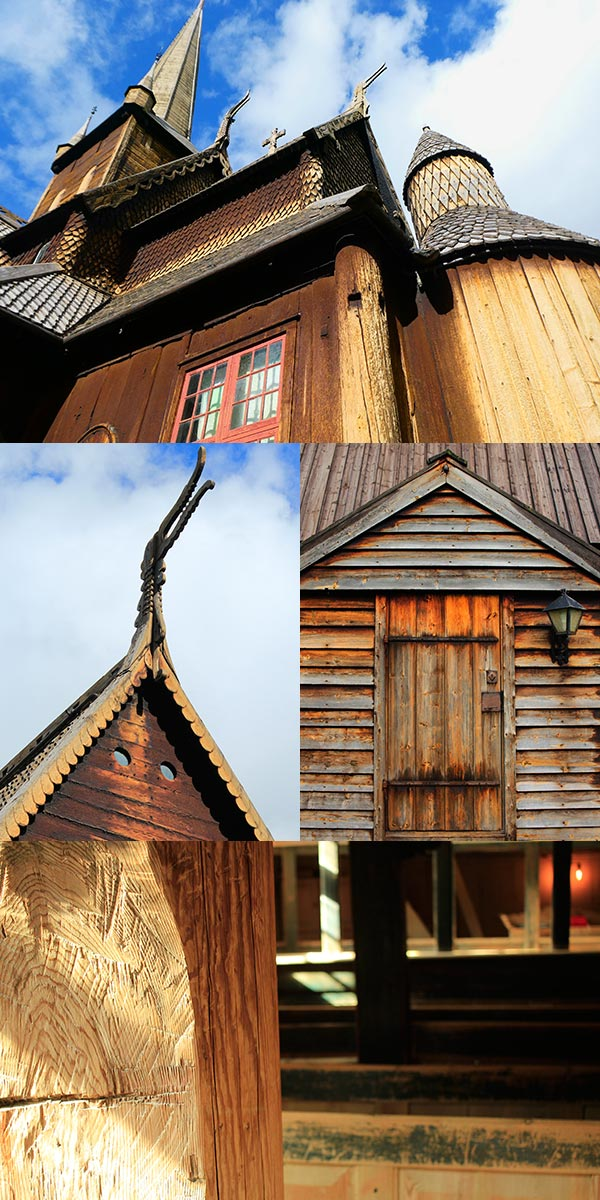 Iglesias de madera en Noruega. Foto Rodrigo L.Alonso.