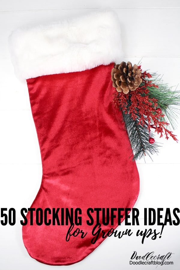Here's 50 stocking stuffer ideas for old kids, grown ups and adults!