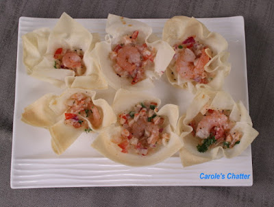 Carole's Chatter: Shrimp Spring Roll Wrapper Cups Reprised