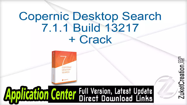 Copernic Desktop Search 7.1.1 Build 13217 + Crack