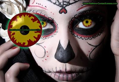 Fire Halloween Contact Lenses