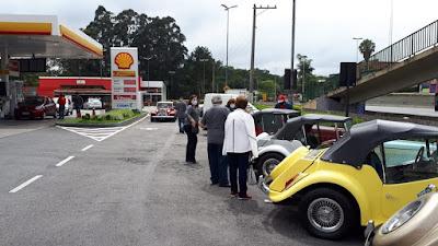 Posto Shell na Rodovia Raposo Tavares, pertinho de São Paulo.
