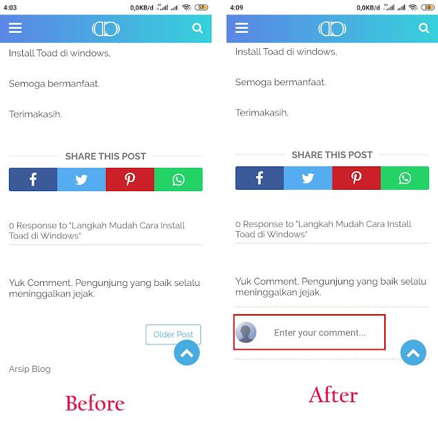 Cara Menampilkan Kolom Komentar di Blog yang Hilang Saat Dibuka Versi Mobile