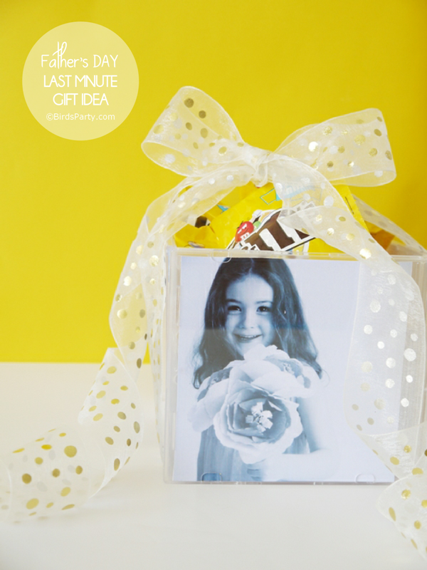 DIY Photo Cube Gift for Father's Day - BirdsParty.com