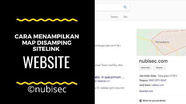 Cara menampilkan google map disamping sitelink website/blog