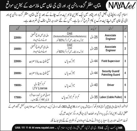 NAYATEL Telecom Company Latest Jobs Opportunity 2021 Advertisement