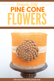 simple diy pinecone flowers