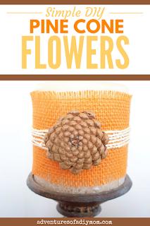 simple diy pinecone flowers