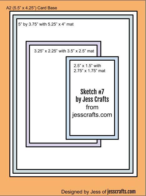 Card Sketch #7 by Jess Crafts