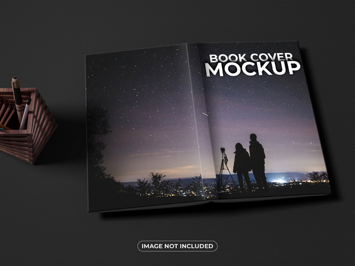 Realistic Book Front And Back Cover Mockup