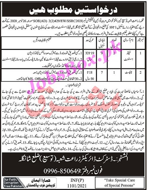 agriculture-department-shangla-jobs-2021