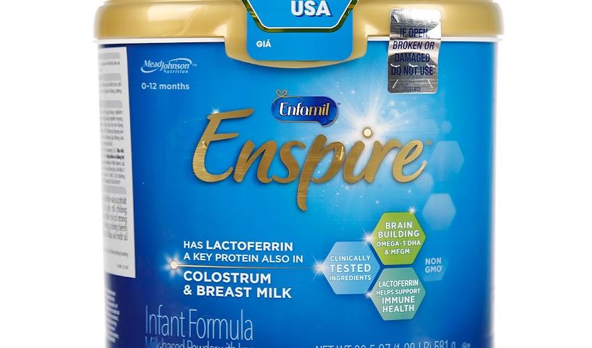 Sữa Enfamil Enspire Infant Formula 581g cho bé 0 - 12 tháng tuổi