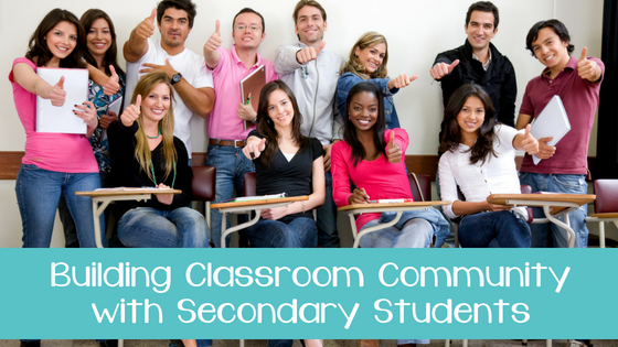 Building Classroom Community with Secondary Students (Freebie Included!)