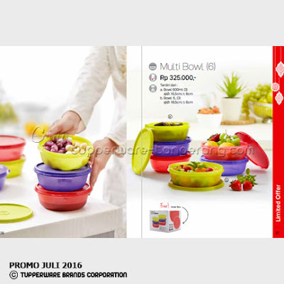 Multi Bowl 6 ~ Katalog Tupperware Promo Juni 2016