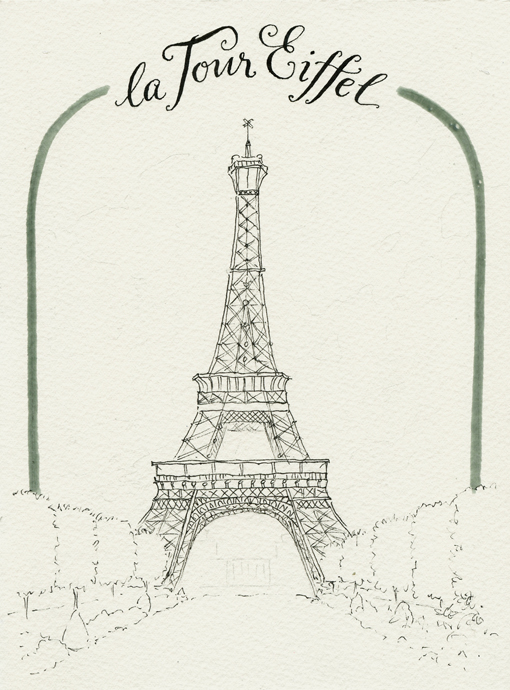 Everyday Artist France Sketchbook Eiffel Tower Step By Step Watercolor Tutorial