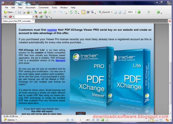 PDF-XChange Viewer PRO 2.5 Keygen + Portable | Soft Arcive Media