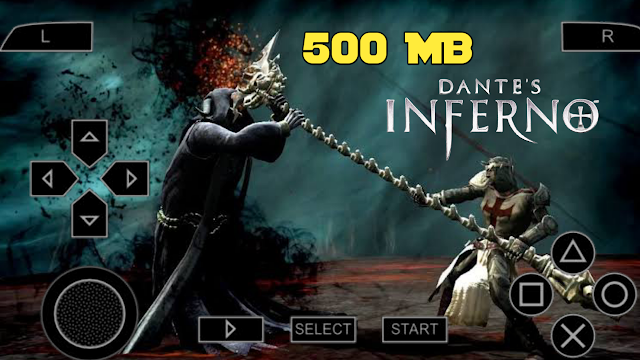 Dante's Inferno PSP ROM 500 MB Highly Compressed ISO File