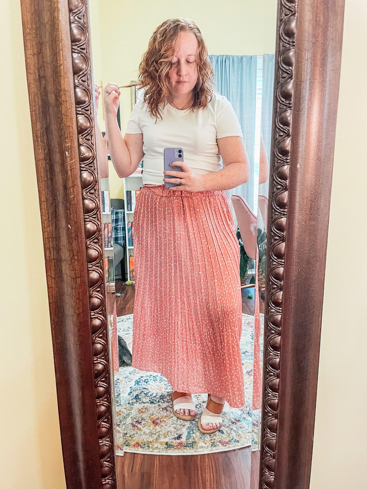 pink-polka-dot-maxi-skirt