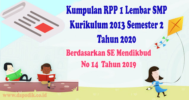 Kumpulan RPP 1 Lembar SMP Kurikulum 2013 Semester 2 Tahun 2022