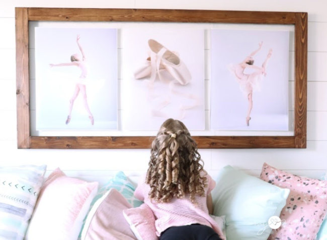 DIY Framed ballet art for a girls room