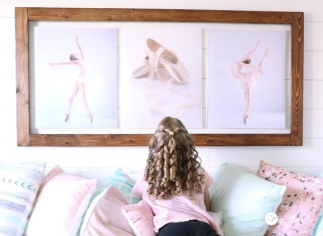 DIY Framed ballet art for a girls room