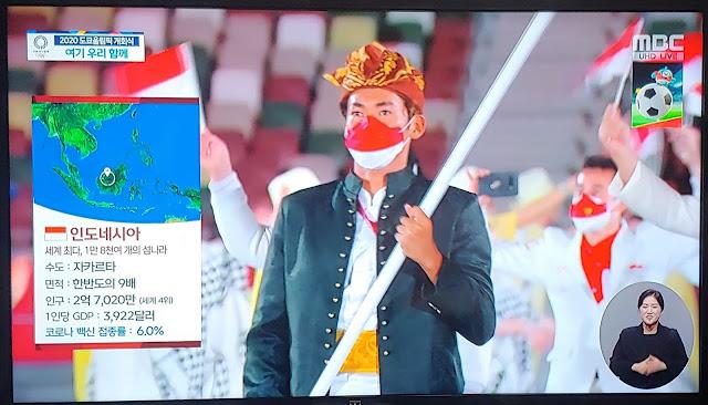 Rasis? TV Korsel Dinilai Permalukan RI di Olimpiade Tokyo: GDP Rendah, 6% Penduduknya Terinfeksi Covid