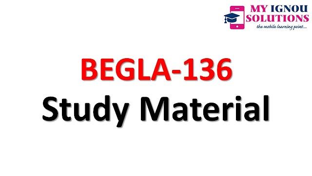 IGNOU   BEGLA-136    Study Material