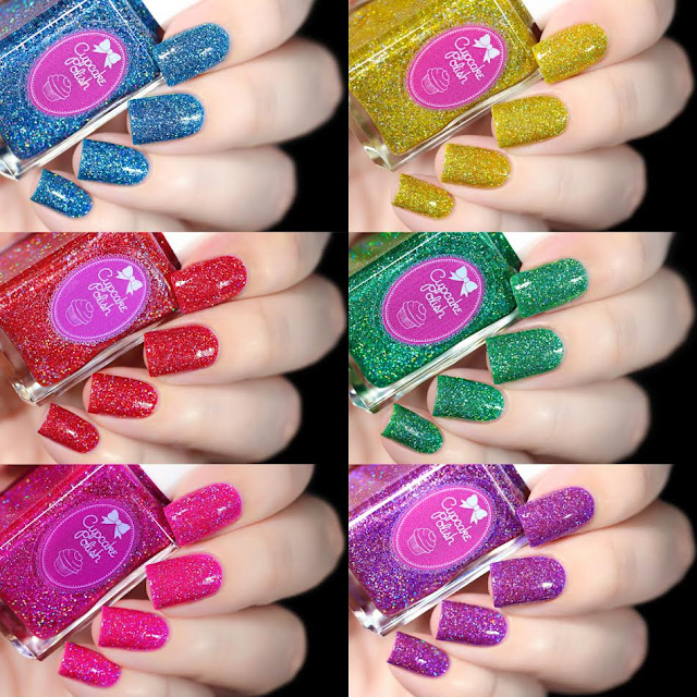cupcake polish candy land collection swatches
