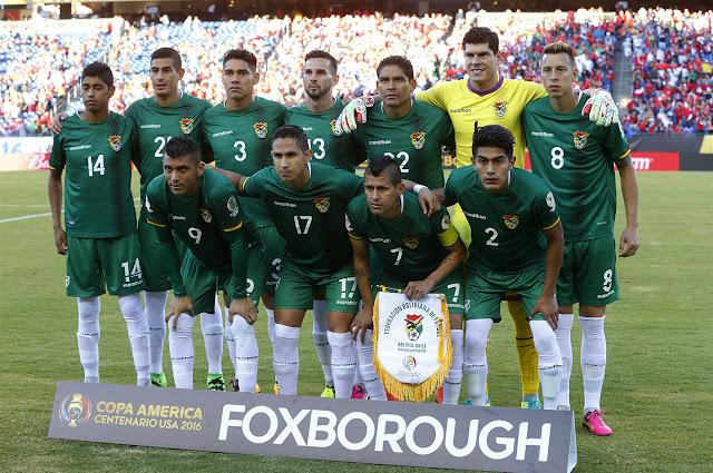Formación de Bolivia ante Chile, Copa América Centenario, 10 de junio de 2016