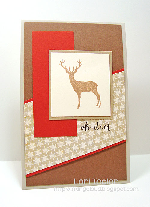 Oh Deer card-designed by Lori Tecler/Inking Aloud-stamps from Clear and Simple Stamps