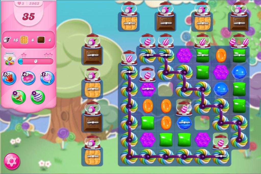Candy Crush Saga level 5963