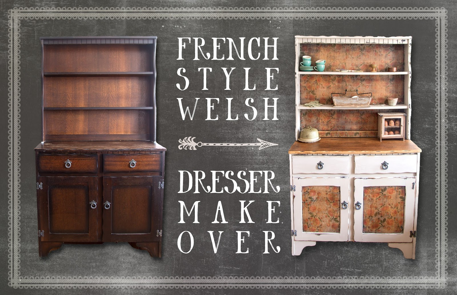 French Style Welsh Dresser Makeover