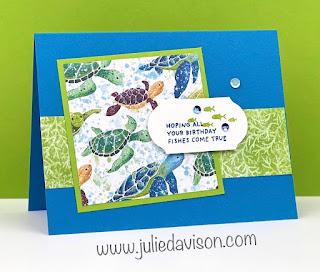 World Cardmaking Day: Free Mini Stamp-a-Stack Online Class ~ Stampin' Up! Designer Paper Sale ~ Whale Done ~ www.juliedavison.com #stampinup #wcmd2020 #worldcardsendingweek2020 #SU2020WCMD