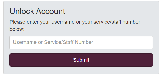 Unlock your Old Defence Gateway Account