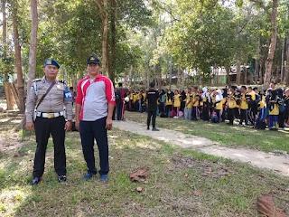 Polsek Badau Himbauan: Outbond SMK Negeri 1 Tanjungpandan