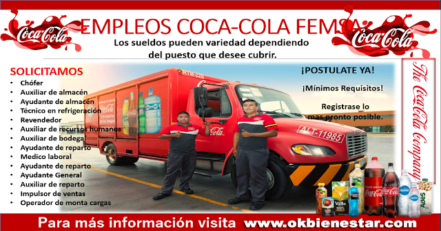 Oportunidades Laboral en Coca-Cola Femsa