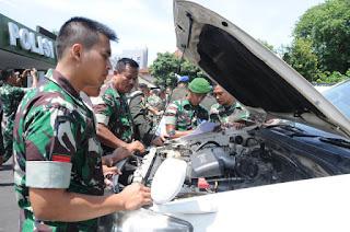 Denpom III/3 Cirebon Gelar Pelatihan Keselamatan Mengemudi (Safety Driving) Bagi Personil TNI AD