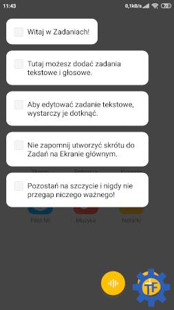 Aplikacja notatki od Xiaomi