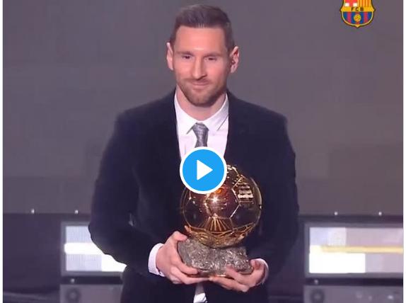 Et de 6 pour Lionel Messi, qui remporte le Ballon d'Or 2019