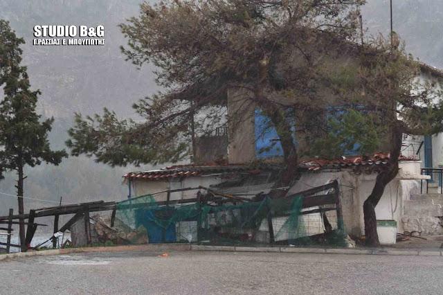 Ισχυρή καταιγίδα τις μεσημεριανές ώρες στη Αργολίδα (βίντεο)