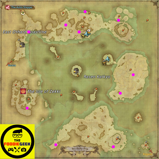 Final Fantasy XIV: Stormblood All Aether Current Locations - The Ruby Sea