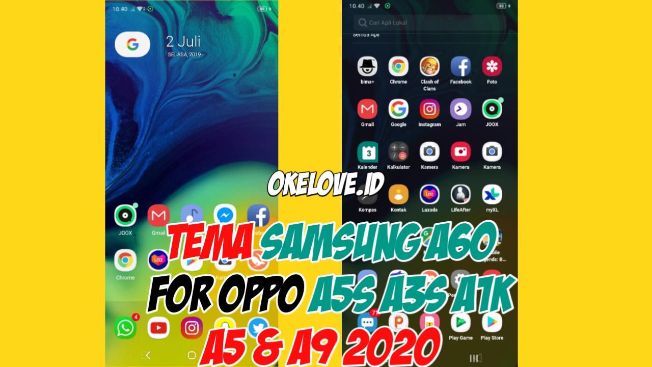 Tema Samsung A60 Untuk OPPO A5S, A3S, A1K, A5 dan A9 2020