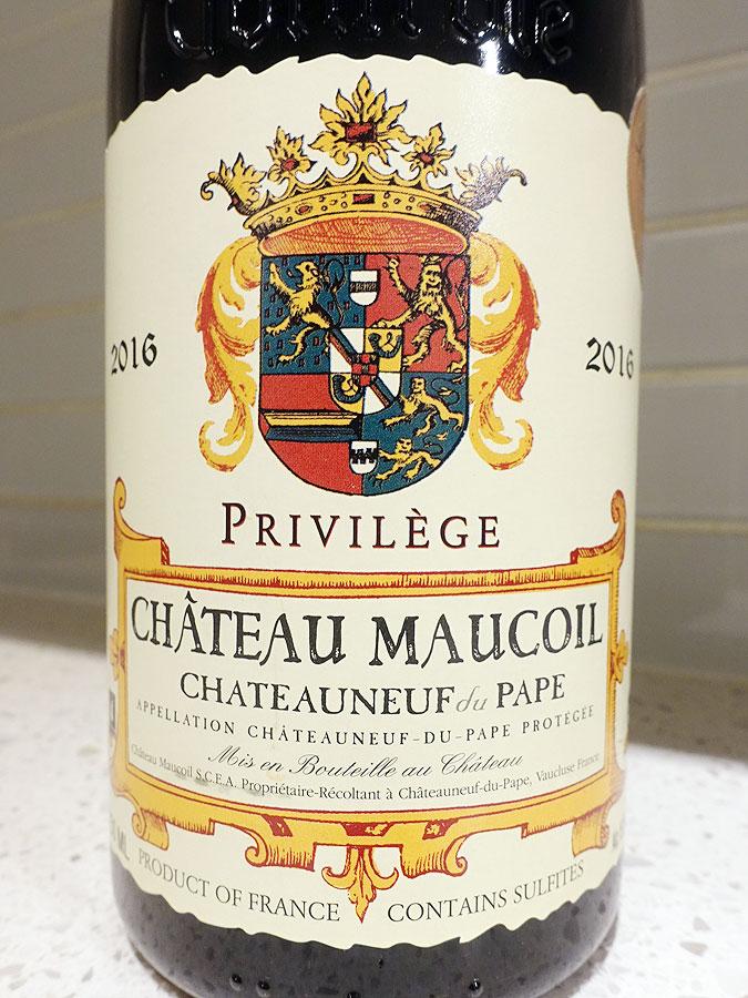 Château Maucoil Privilège Châteauneuf-du-Pape 2016 (94 pts)