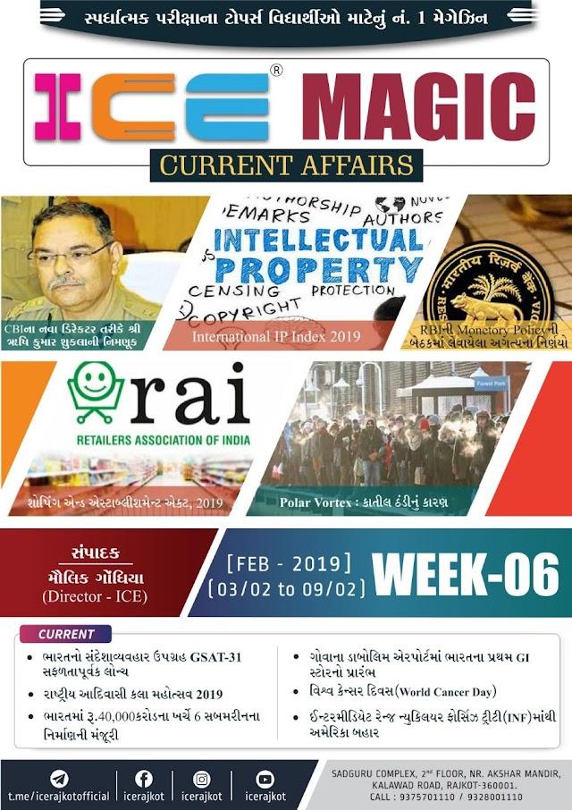 ICE Rajkot Current Affairs Monthly PDF Ank 06