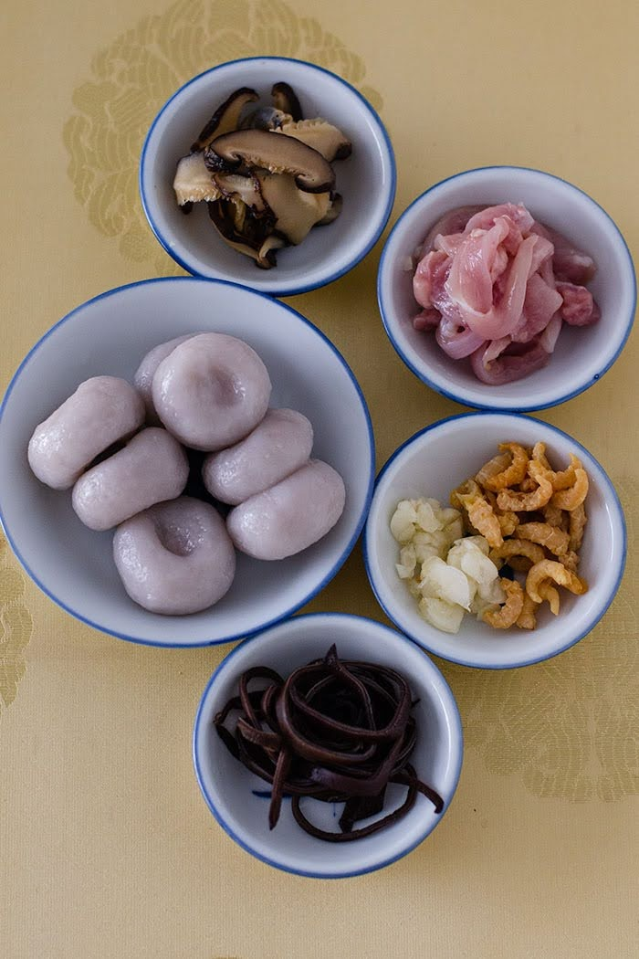 Ingredients for yam abacus