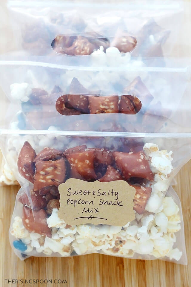 Sweet & Salty Popcorn Snack Mix For Movie Night, Parties, Camping & Holiday Gifts