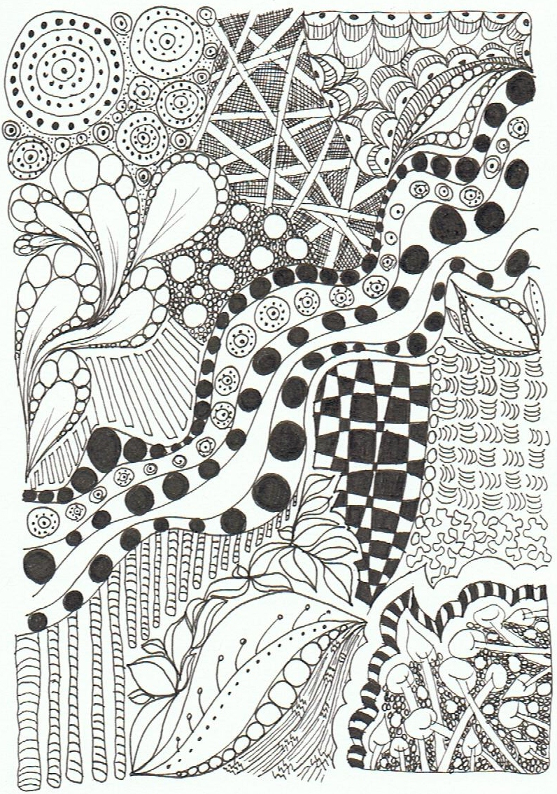 Tracey Hewitt Mixed Media Art: Zentangles as Therapy
